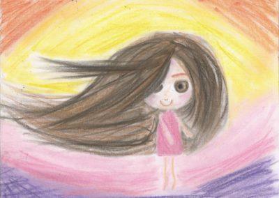 Dívka v barvě